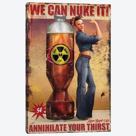 We Can Nuke It Canvas Print #GOA35} by Steve Goad Canvas Artwork