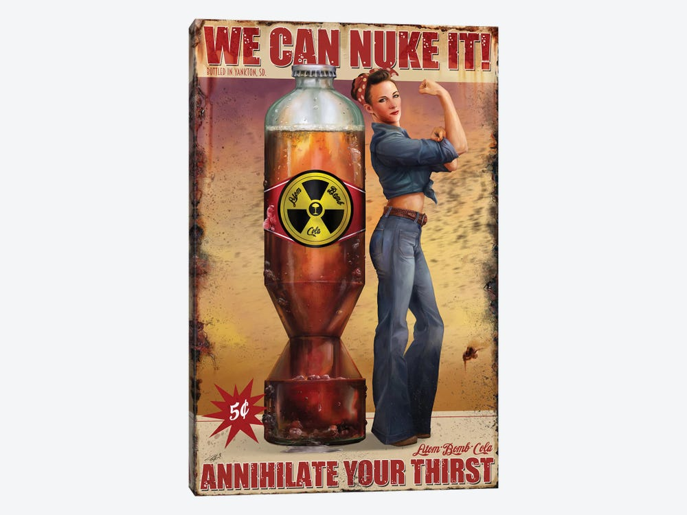 We Can Nuke It by Steve Goad 1-piece Canvas Art Print