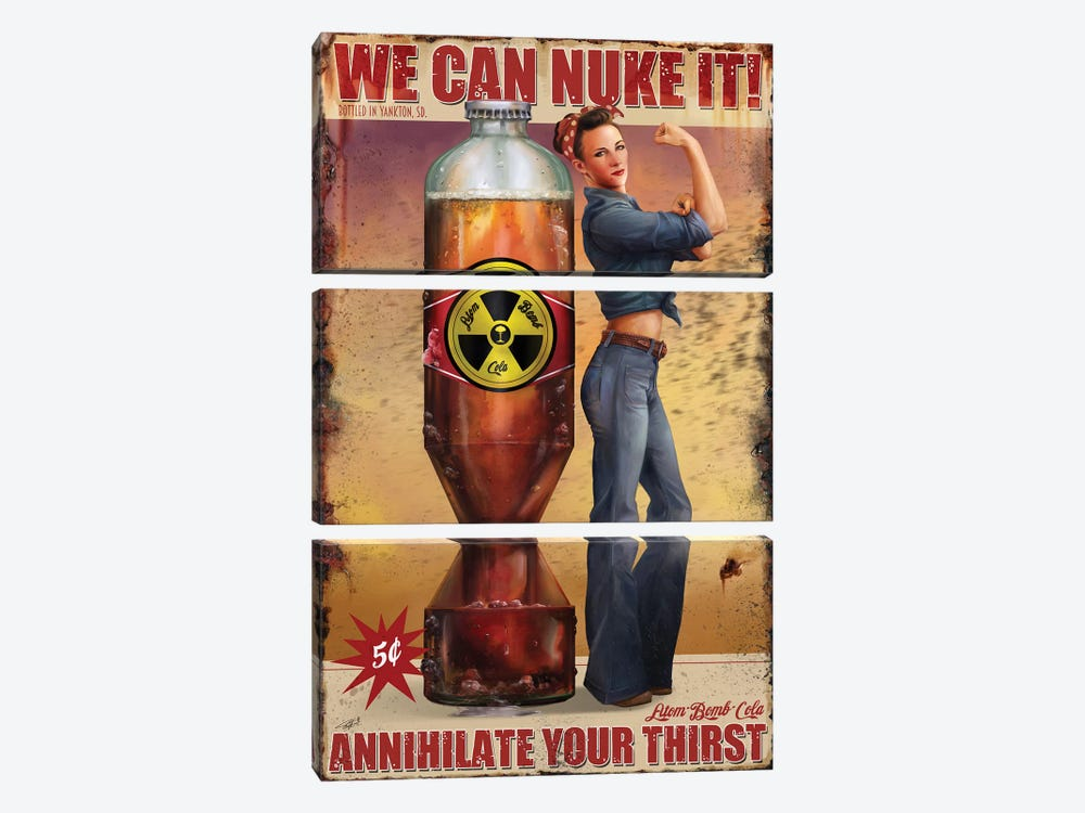 We Can Nuke It by Steve Goad 3-piece Canvas Art Print