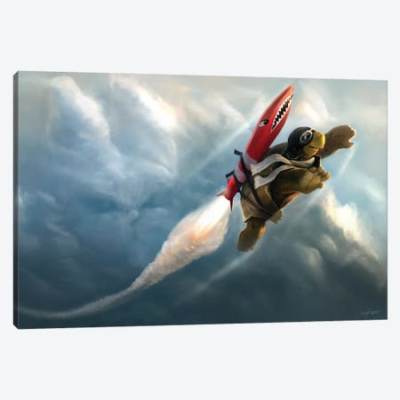 Outrunning The Clouds Canvas Print #GOA44} by Steve Goad Canvas Print