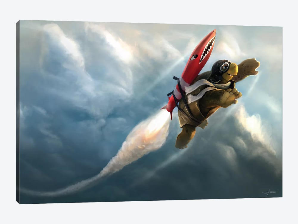 Outrunning The Clouds 1-piece Canvas Art Print