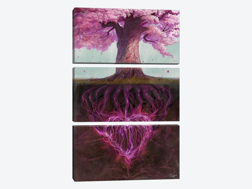 Symbolism Of Marriage by Steve Goad 3-piece Canvas Wall Art