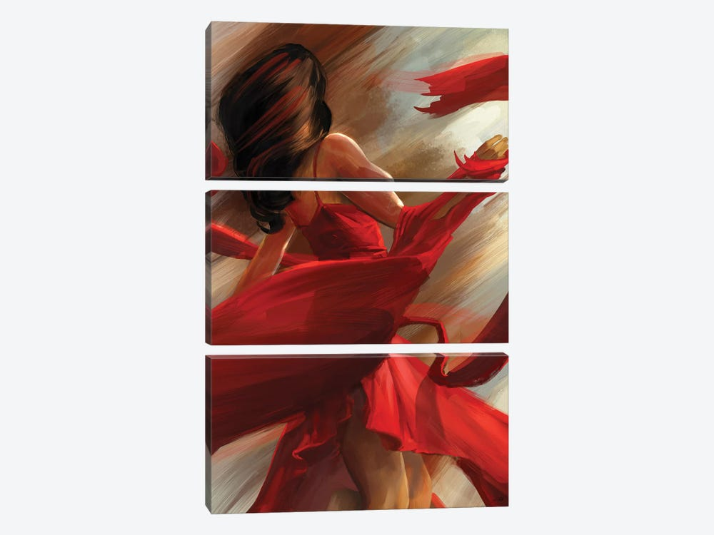 Beauty In Motion by Steve Goad 3-piece Canvas Artwork