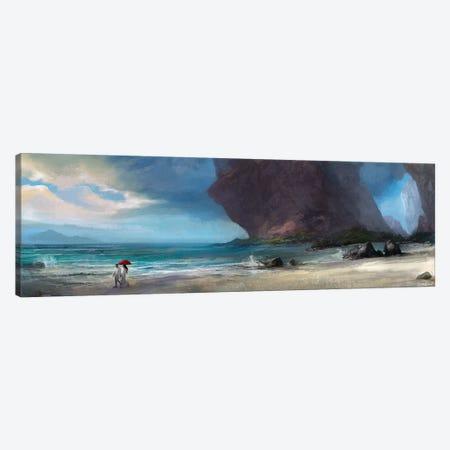 Walk On The Beach Canvas Print #GOA53} by Steve Goad Canvas Print