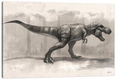 T-Rex Drawing Canvas Art Print