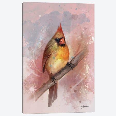 Female Cardinal Canvas Print #GOA59} by Steve Goad Canvas Print