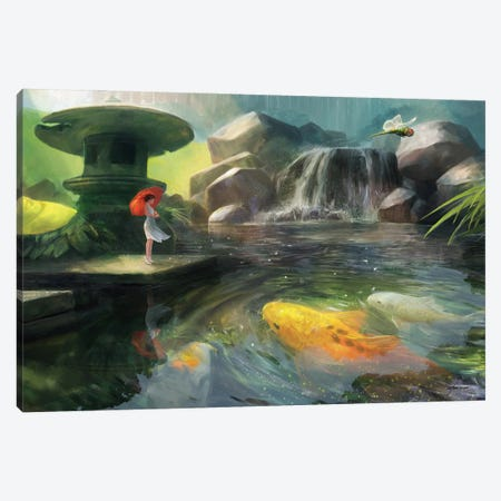 Giant Koi Canvas Print #GOA60} by Steve Goad Canvas Artwork