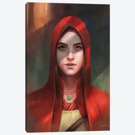 Female Portrait Canvas Print #GOA61} by Steve Goad Canvas Art
