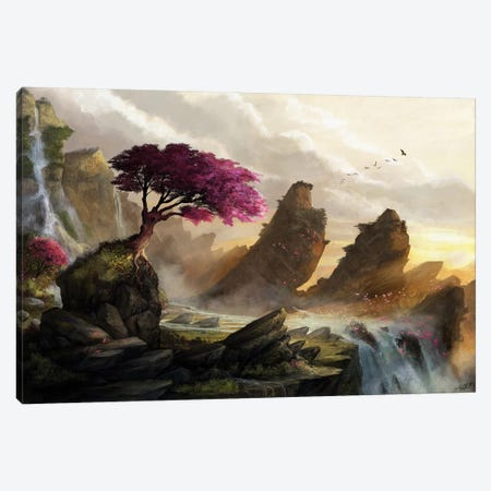 Blossom Sunset Canvas Print #GOA7} by Steve Goad Art Print