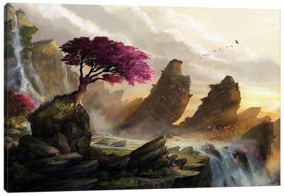 Blossom Sunset Canvas Art Print