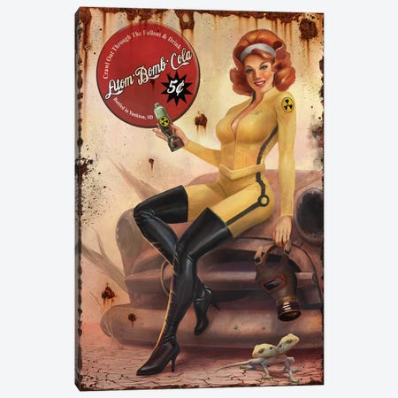 Crawl Out Through The Fallout Canvas Print #GOA9} by Steve Goad Canvas Wall Art