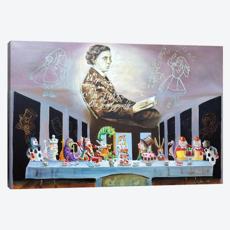 Alice In Wonderland The Last Supper Canvas Print #GOB12} by Gordon Bruce Canvas Art