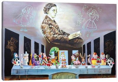 Alice In Wonderland The Last Supper Canvas Art Print