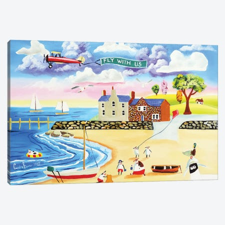 Animals At The Seaside Canvas Print #GOB13} by Gordon Bruce Canvas Wall Art