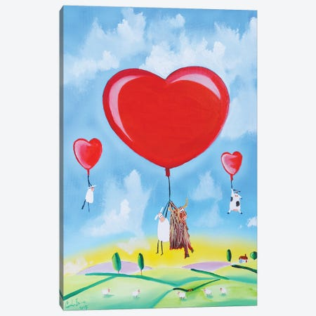 Balloon Hearts Canvas Print #GOB16} by Gordon Bruce Canvas Art Print
