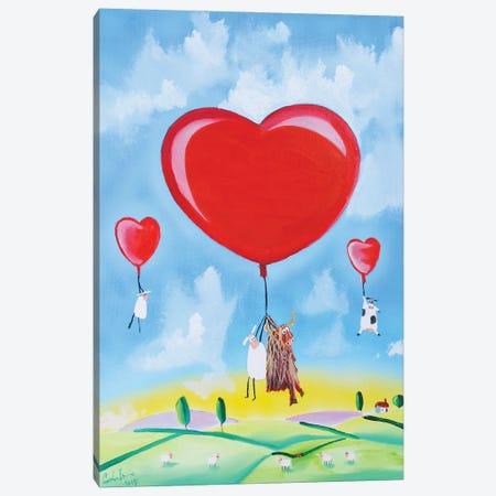 Balloon Hearts Canvas Print #GOB16} by Gordon Bruce Canvas Art Print