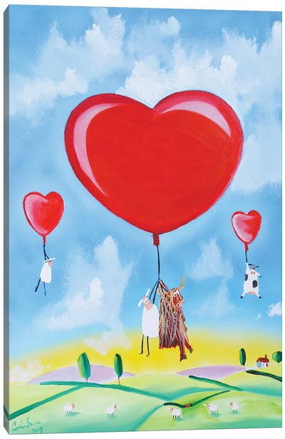 Balloon Hearts Canvas Art Print