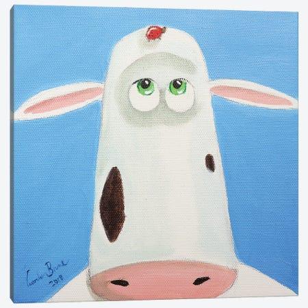 Cow And A Ladybird Canvas Print #GOB24} by Gordon Bruce Canvas Wall Art