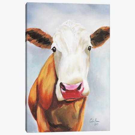 Cow Portrait Canvas Print #GOB28} by Gordon Bruce Canvas Art Print
