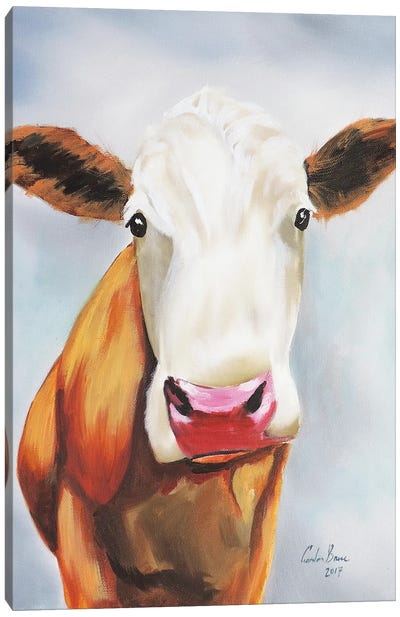 Cow Portrait Canvas Art Print