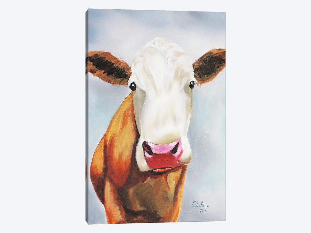 Cow Portrait by Gordon Bruce 1-piece Canvas Art Print