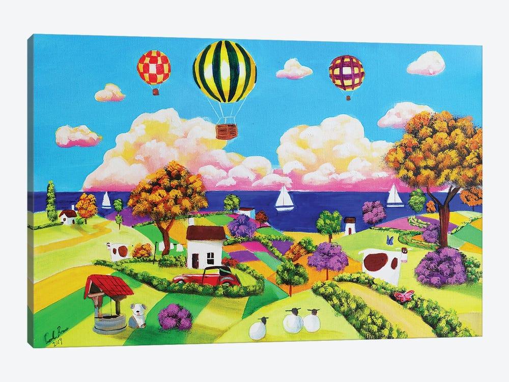 Happy Seaside by Gordon Bruce 1-piece Canvas Print