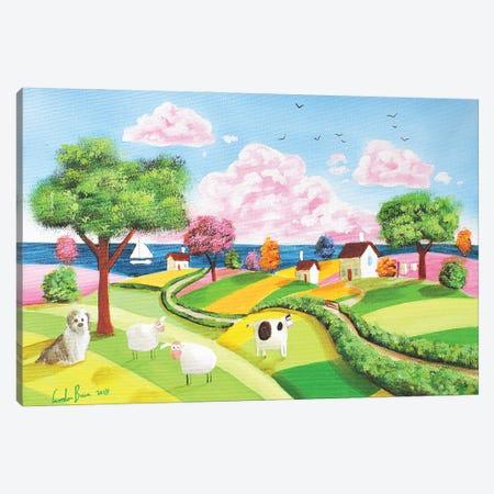 Folk Art Rolling Hills Canvas Print #GOB31} by Gordon Bruce Canvas Art
