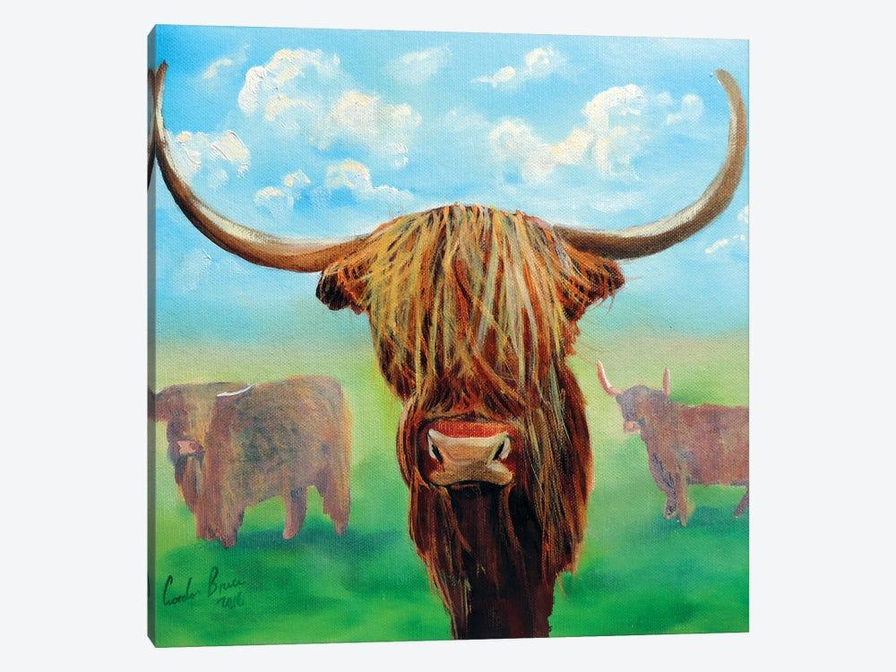 Highland Cows by Gordon Bruce 1-piece Canvas Art