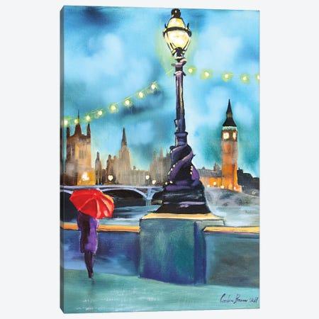 Lights Of London Canvas Print #GOB40} by Gordon Bruce Art Print