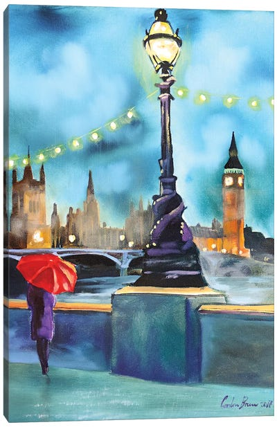 Lights Of London Canvas Art Print