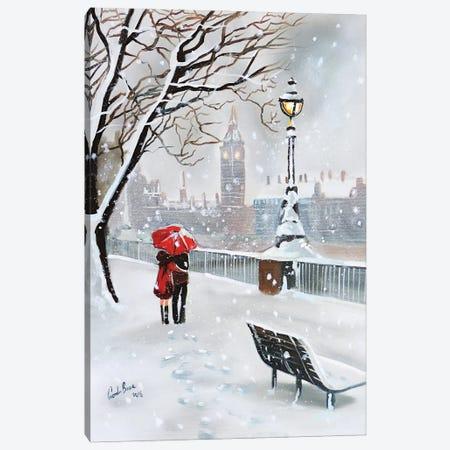 London In Winter Canvas Print #GOB41} by Gordon Bruce Canvas Print