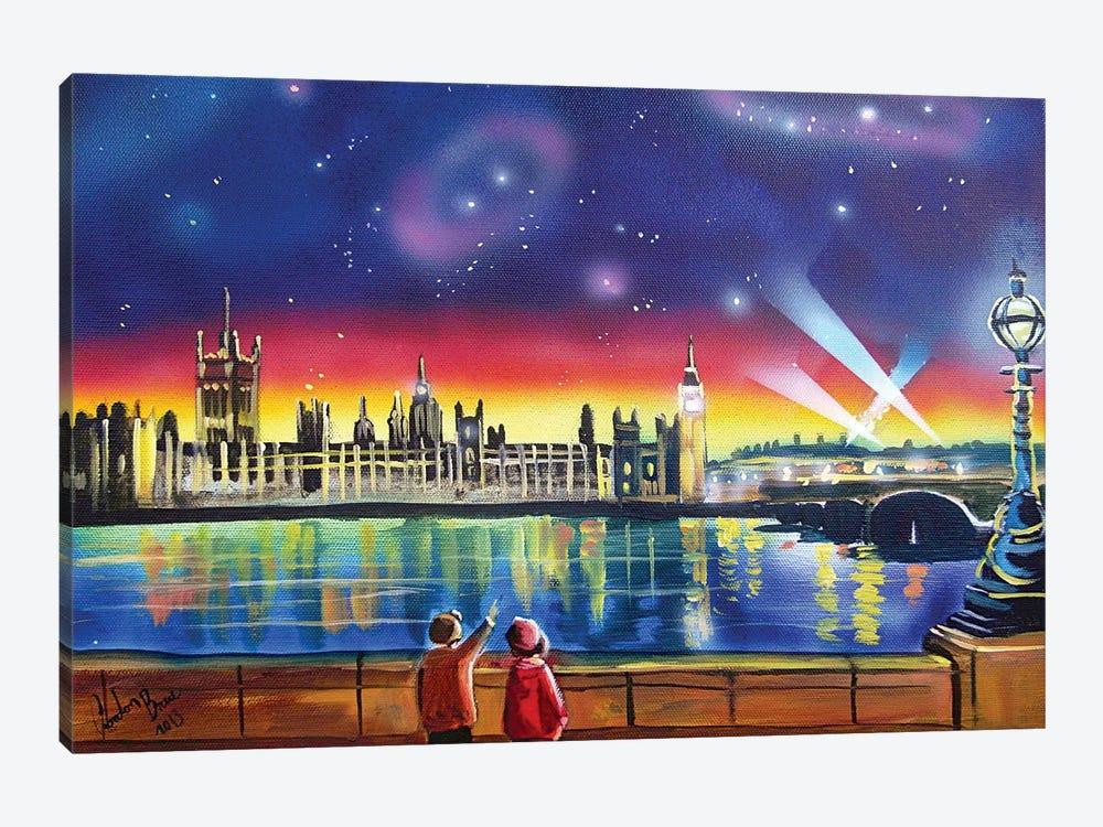 London Thames Starry Night by Gordon Bruce 1-piece Canvas Art Print
