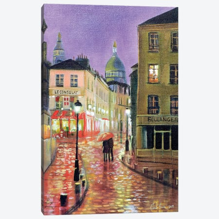 Montmartre Canvas Print #GOB43} by Gordon Bruce Art Print