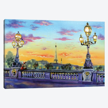 Paris Lights Canvas Print #GOB44} by Gordon Bruce Canvas Art