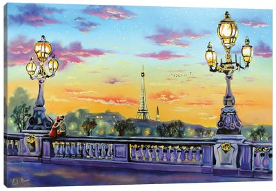 Paris Lights Canvas Art Print