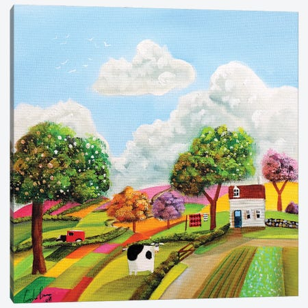 Patchwork Fields Canvas Print #GOB45} by Gordon Bruce Canvas Art