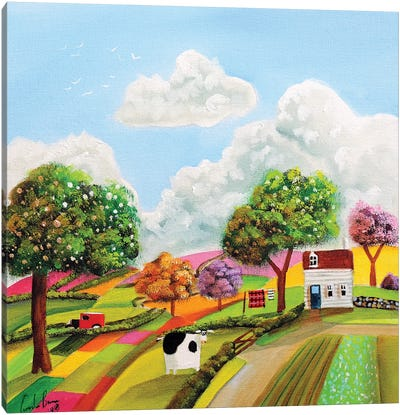 Patchwork Fields Canvas Art Print