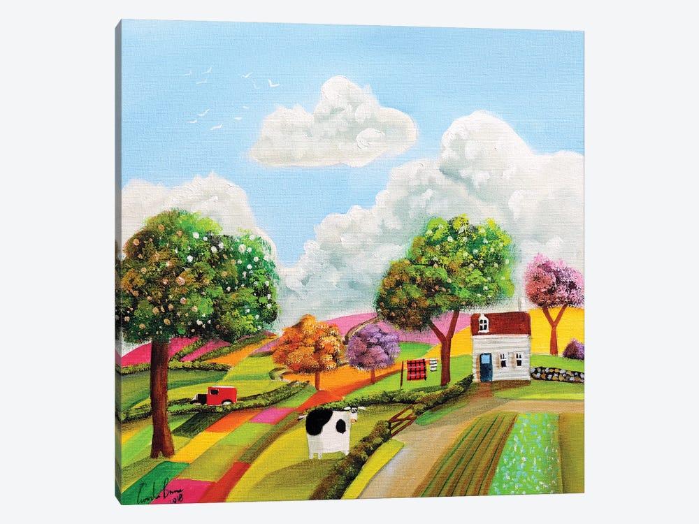 Patchwork Fields by Gordon Bruce 1-piece Canvas Wall Art