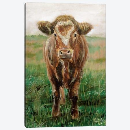 Portrait Of A Cow Canvas Print #GOB46} by Gordon Bruce Canvas Wall Art