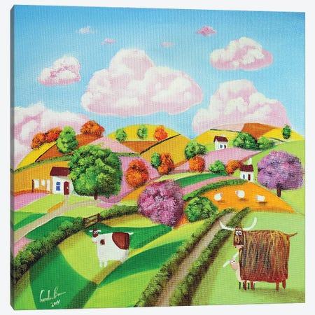 Rolling Hills & Patchwork Fields Canvas Print #GOB48} by Gordon Bruce Canvas Art Print