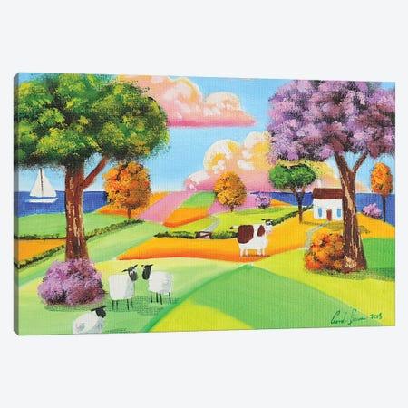 Rolling Hills Canvas Print #GOB49} by Gordon Bruce Art Print