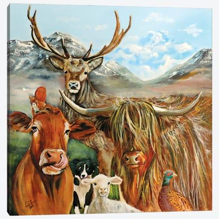 Scottish Locals Canvas Print #GOB51} by Gordon Bruce Canvas Artwork