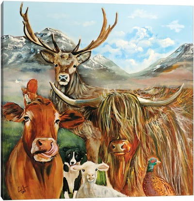 Scottish Locals Canvas Art Print