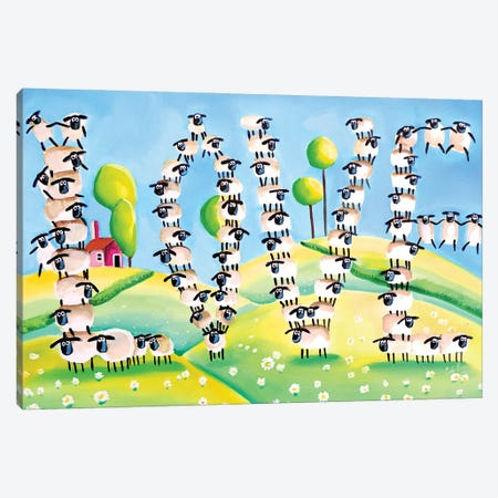 Sheep Love Canvas Print #GOB55} by Gordon Bruce Art Print