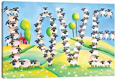 Sheep Love Canvas Art Print
