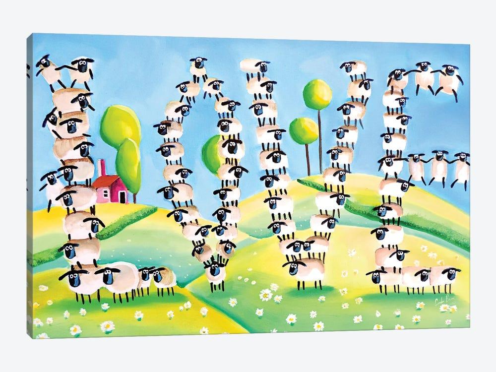 Sheep Love by Gordon Bruce 1-piece Canvas Art Print