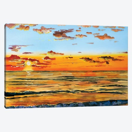 Summer Sunset Canvas Print #GOB59} by Gordon Bruce Canvas Wall Art