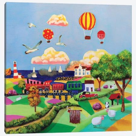 Red Steam Train Canvas Print #GOB5} by Gordon Bruce Canvas Wall Art