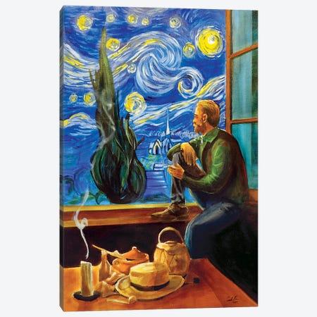 Van Gogh At His Window Canvas Print #GOB64} by Gordon Bruce Canvas Artwork