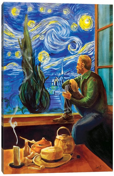 Van Gogh At His Window Canvas Art Print